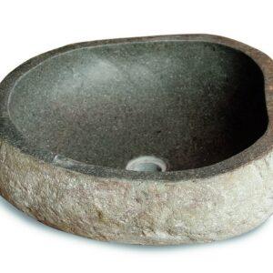 Kamenné umyvadlo z říčního kamene